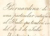 Invitación baile Bernardina Rivera