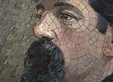 Mosaico con retrato de Santos