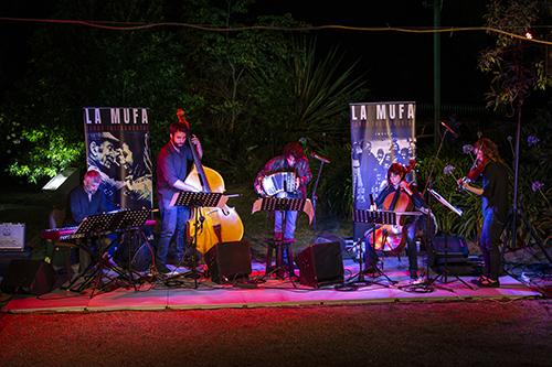 Grupo La Mufa (Tango instrumental) durante su espectáculo en la Quinta de Herrera