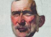 Boceto máscara para Artigas en el puente de la Ciudadela