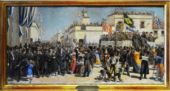 Jura de la Constitución, boceto del óleo de Juan Manuel Blanes
