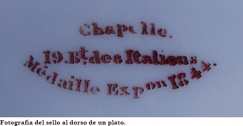 Sello de la fábrica Chapelle-Maillard