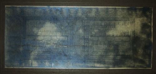 Restauración de cuadro caligráfico de Juan Manuel Besnes e Irigoyen