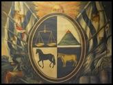 El antiguo escudo nacional