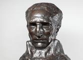 Boceto de la cabeza de José Artigas a escala natural del monumento